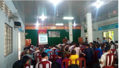 """Hội nghị """"Định hướng phát triển cây ăn trái bền vững cho vùng sản xuất cam sành trên đất lúa"""" tại huyện Vũng Liêm"""