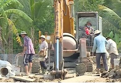 Trà Ôn: Đẩy nhanh tiến độ xây dựng nông thôn mới tại xã Thuận thới năm 2019