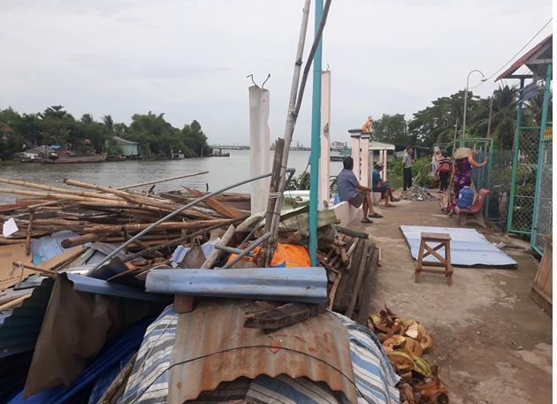 Tình hình sạt lở bờ sông Bà Đồng, xã Tân Bình, huyện Bình Tân