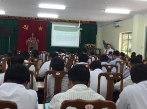 Tập huấn an toàn thực phẩm trong lĩnh vực nông nghiệp năm 2020 cho hội nông dân tỉnh Vĩnh Long